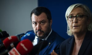 The far-right stuff … Matteo Salvini of Italy's League and Marine Le Pen of France's National Rally.