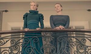 Naomi (Ever Carradine) and Serena Joy (Yvonne Strahovski) in the final episode of season 2's The Handmaid's Tale.