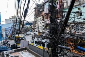 Cables in the Rocinha favela.
