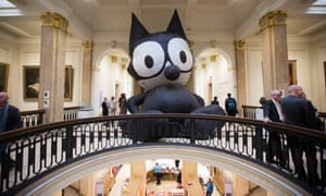 Felix the Cat, by Mark Leckey, at the Walker art gallery in Liverpool, 2016.