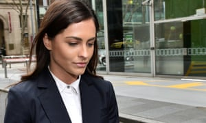 Yahoo7 reporter Krystal Johnson leaves the supreme court of Victoria in August