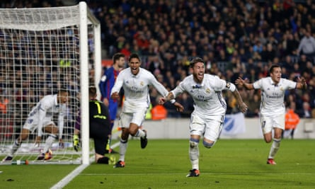 Sergio Ramos was close to joining Manchester United in the summer but proved his worth to Real Madrid with the 89th-minute equaliser against Barcelona.