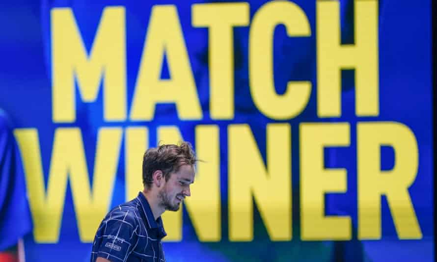 Daniil Medvedev beat Djokovic on his way to winning the ATP Finals last year