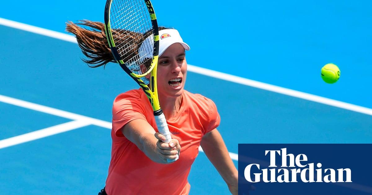 Dodgy knee tempers Johanna Konta's expectations in Australian Open