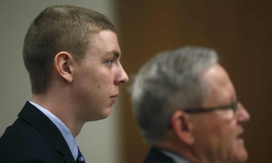 Brock Turner appears in court in Palo Alto, California, in 2015.