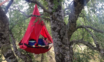 Overnight tree top adventure in the French alps