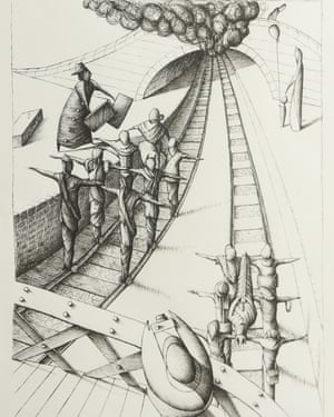 'Wherever I'm going, we're all going' … one of Gilbert's drawings.