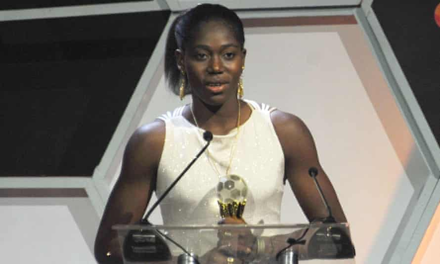 Asisat Oshoala clutches the African women's player of the year award after proving doubters wrong by rejuvenating her career in China.