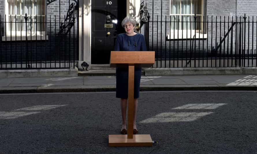 Theresa May announcing a snap general election