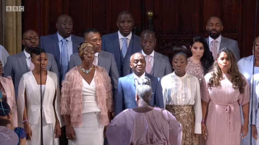 Karen Gibson and The Kingdom Choir perform at the wedding of Prince Harry and Meghan Markle on Saturday 19 May.