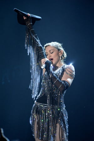 Madonna on her Rebel Heart tour – the costume is one of the items up for grabs at her charity benefit.