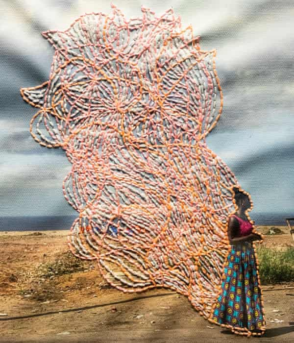 'Each stitch is a way to recover' … an artwork from the Prix Pictet-winning series Ça va aller (2016-19) by Joana Choumali.