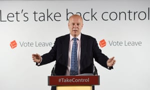 Chris Grayling delivering his Vote Leave speech.