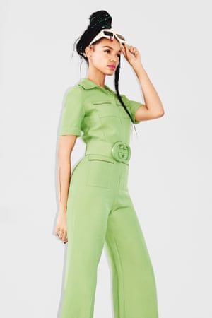 Pops of colour in a playful jumpsuit or sundress give a modern take on the decade
