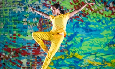 From giddy turns to meditative floorwork … Stephanie Amurao in On the Other Side by LA Dance Project at Sadler's Wells in London.