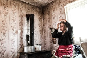 Local woman in her home in Zgubir, South Ossetia