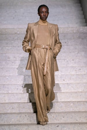 'You must produce clothes that genuinely are empowering' … a model on the catwalk at the Max Mara show