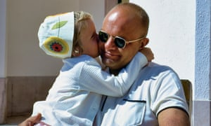 Dad and a young Dani in the Algarve