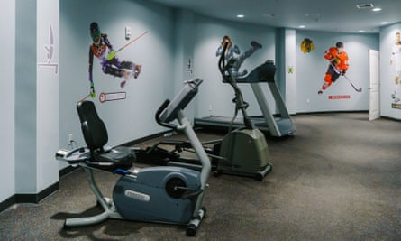 Facilities include a gym.