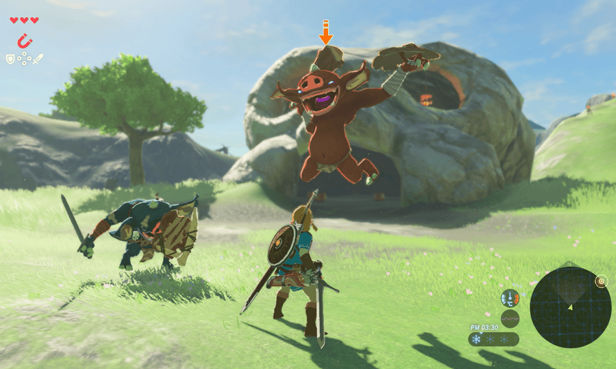 Breath of the Wild introduces players to several of the major enemies in a highly controlled environment
