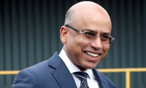Liberty Steel's Sanjeev Gupta smiles outside the company's Liberty Steel processing mill in Dalzell, Scotland, in 2016.