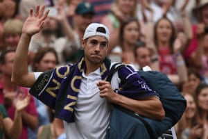 John Isner thanks the crowd for their support after giving everything in a match for the ages.