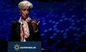 President of the European Central Bank Christine Lagarde.