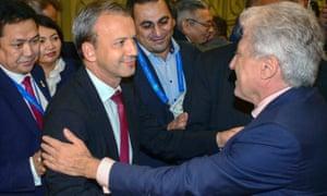 Delegates congratulate Arkady Dvorkovich