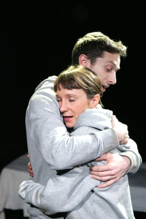 Garry Collins as Graham and Polly Frame as Grace in Cleansed at the Arcola theatre, London, in 2005
