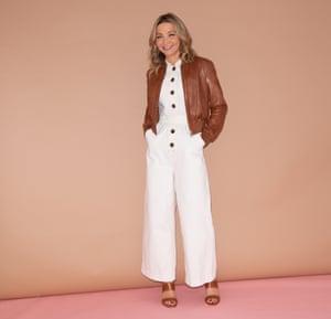 Jess Cartner-Morley wearing chocolate colours
