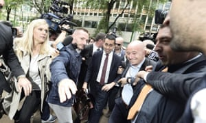 The leader of Italy's Five-Star Movement, Luigi Di Maio, arriving for talks with the Lega party over forming a government.