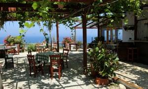 Thea's taverna terrace
