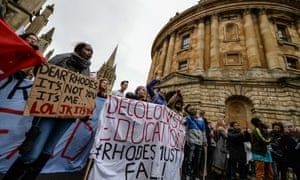 Protesters outside All Souls College, home of the Codrington library.