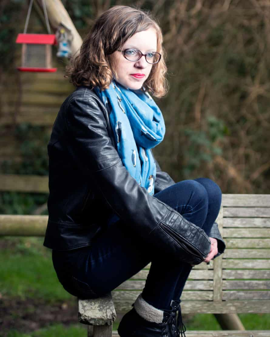 Chlo Winfield, 18, who was harassed online by her ex-boyfriend for two years, pictured at home in Bristol.