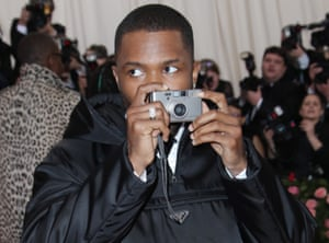 Frank Ocean at the opening of Camp: Notes on Fashion, at The Metropolitan Museum of Art, New York, USA, 6 May 2019