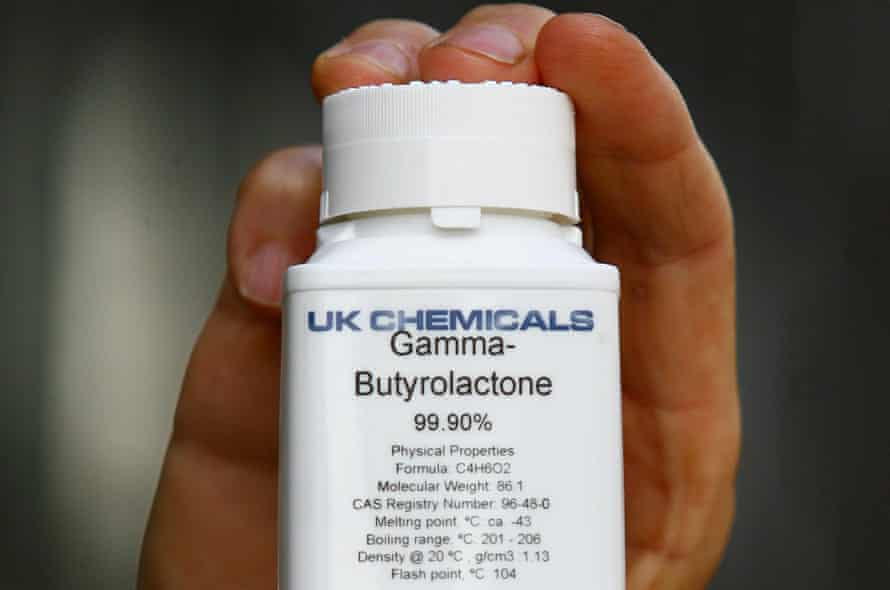 A bottle of the unclassified drug Gamma-Butyrolactone (GBL).