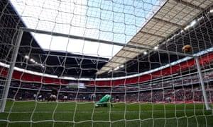Tottenham Hotspur's Son Heung-min scores against Newcastle.