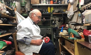 Pasquale Cané in his Via Nardones workshop and store, Naples, Italy.