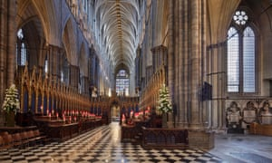 David Hockney's piece will fill half of the north transept window (right) at Westminster Abbey.
