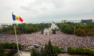 Protest in Moldova.
