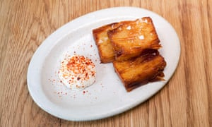 'They're great. Of course they are. But latkes, they are not': confit potato latkes.