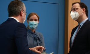 Federal Minister of Health Jens Spahn during a press conference on the coronavirus disease (COVID-19) pandemic situation and lockdown, in Berlin, Germany, 12 February 2021.