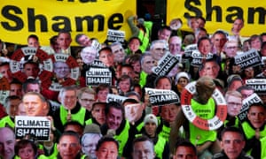 Protesters take part in a rally dubbed 'climate shame' during the last day of the UN climate summit in Copenhagen in December 2009.
