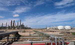 An oil plant in Libya