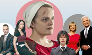 From left: Elementary, The Handmaid's Tale, A Very English Scandal and The Royal Wedding