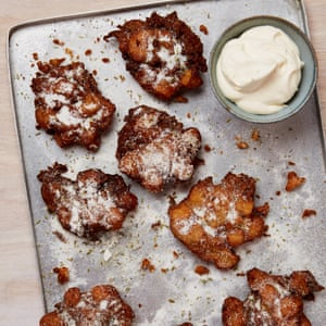 Yotam Ottolenghi's apple fritters with fennel and vanilla