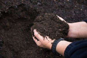 Compost products made from source-separated food and garden organics can be returned to the community.