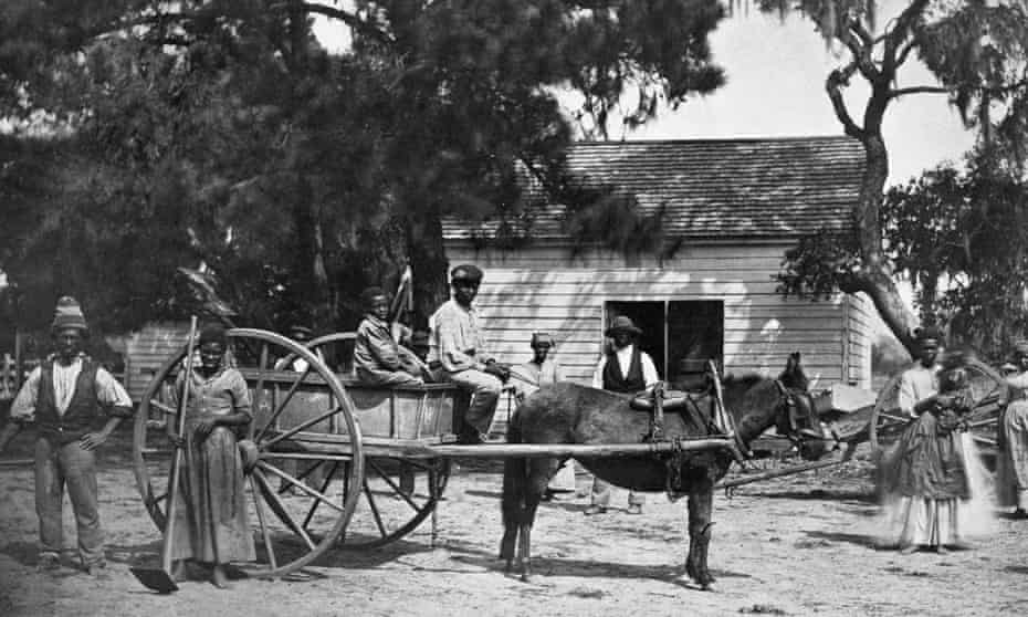American slaves on a plantation in South Carolina, 1862.