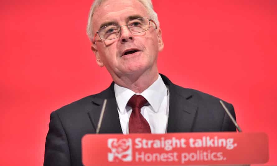 John McDonnell at the Labour party conference in Brighton on 28 September 2015