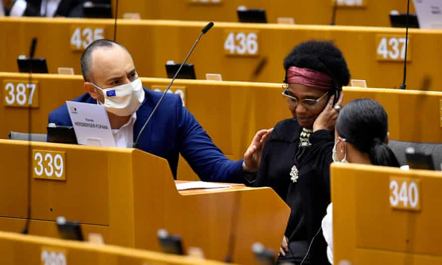 Pierrette Herzberger-Fofana tells the European parliament of her encounter with Belgian police near the Gare du Nord in Brussels